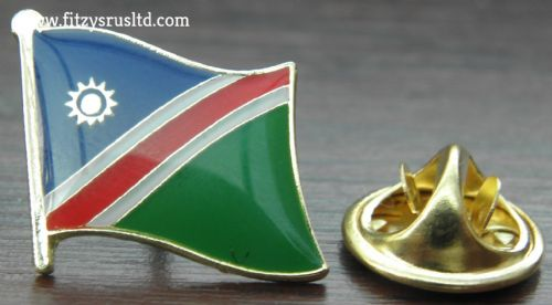 Namibia Flag Lapel Hat Cap Tie Pin Badge Republiek van Namibi Windhoek Souvenir
